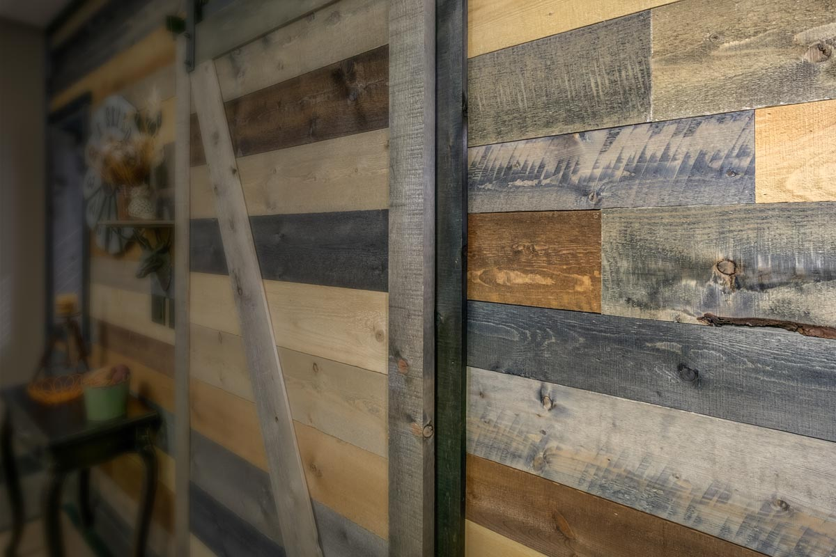 Accent Wall In A Box Modern Rustic Barn Wood Inspired